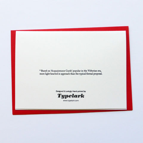 Flirtation Card - Letterpress Typographic Card - product images  of