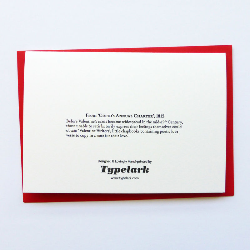 Cupid's Annual Charter - Letterpress Typographic Card - product images  of