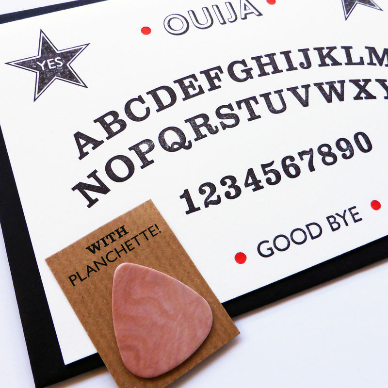 Ouija Board - Letterpress Typographic Card - product images  of