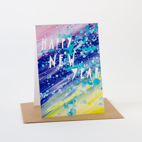 Paint,Card-,Happy,New,Year,Greeting Cards