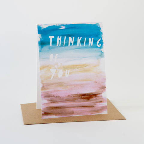 Paint,Card-,Thinking,Of,You,Greeting Card