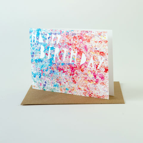 Paint,Splatter,Card-,Happy,Birthday,Greeting Card, Birthday Card