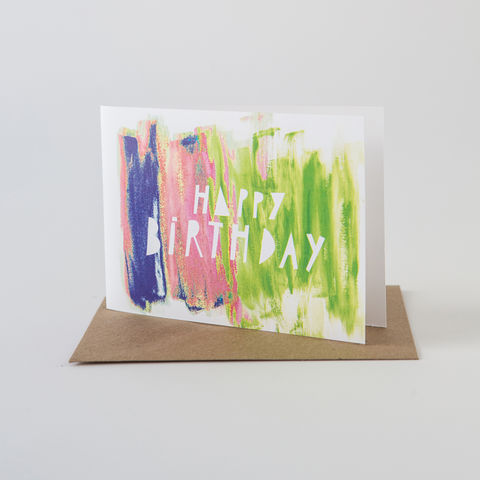 Paint,Stroke,Card-,Happy,Birthday,Greeting Card, Birthday Card