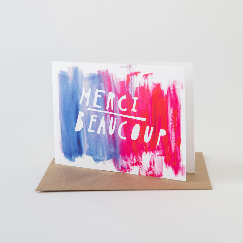Paint Card- Merci Beaucoup - product images