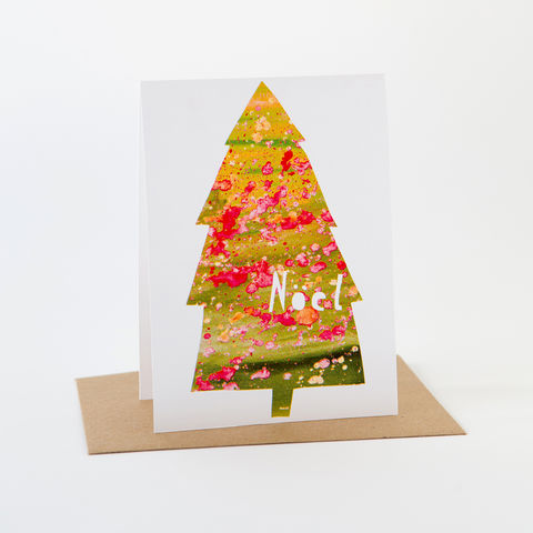 Holiday,Paint,Card-,Noel,Greeting Card, Holiday Card