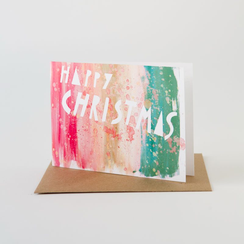 Holiday Paint Card- Happy Christmas - product images
