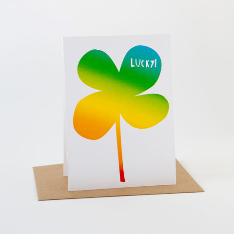 Papercut,Card-,Luck,Clover,Greeting Card
