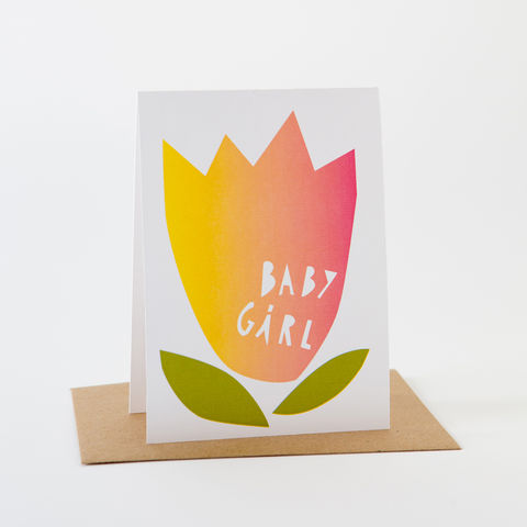 Papercut,Card-,Baby,Girl,Greeting Card