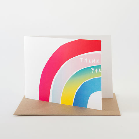 Papercut,Card-,Thank,You,Rainbow,Greeting Card, Thank You Card