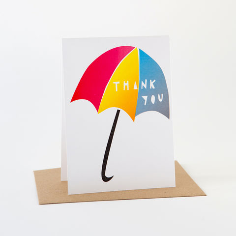 Papercut,Card-,Thank,You,Umbrella,Greeting Card, Thank You Card