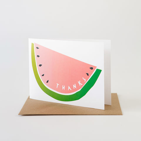 Papercut,Card-,Thanks,Watermelon,Greeting Card, Thank You Card
