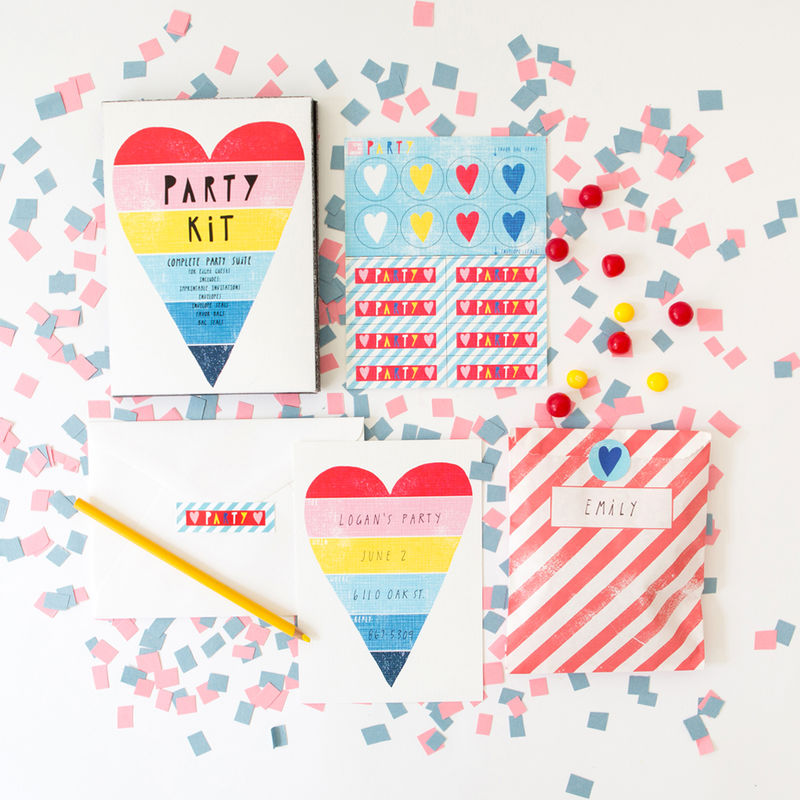 Rainbow Heart Party Kit - product images  of