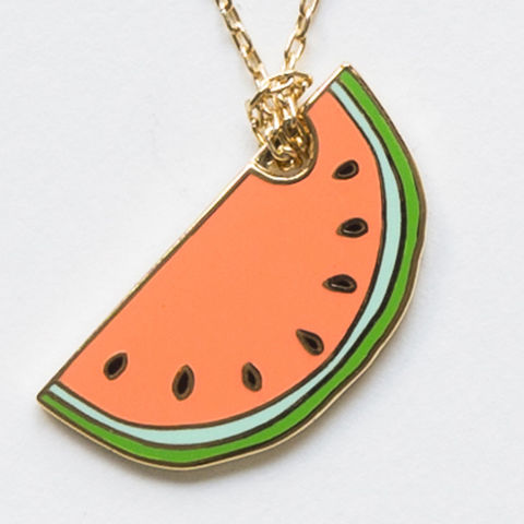 Watermelon,Pendant, watermelon, necklace, cloisonne