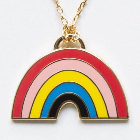 Rainbow,Pendant, necklace, cloisonne, rainbow