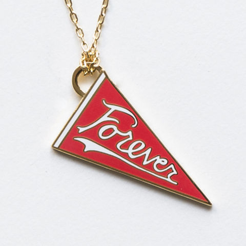 Forever,Pendant, necklace, cloisonne, forever, pennant