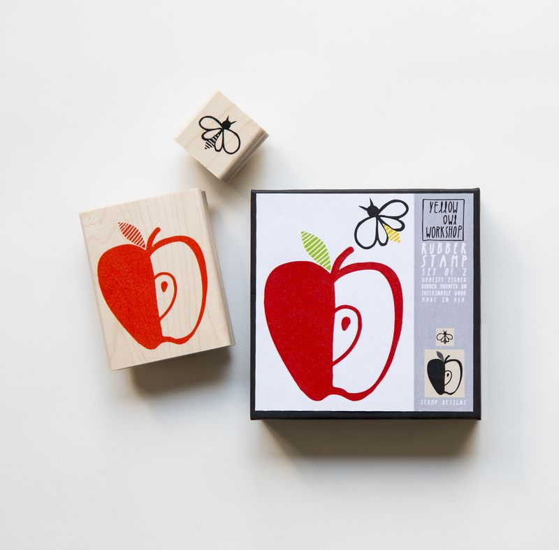 Apple Honey Bee Stamp Set - product images
