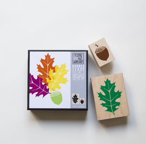 Oak,Leaf,Acorn,Stamp,Set,Stamps, oak tree, oak, leaf, fall