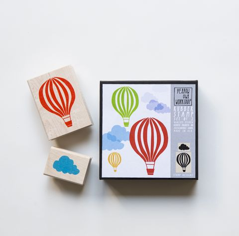 Hot,Air,Balloon,Stamp,Set,stamps, hot air balloon, cloud