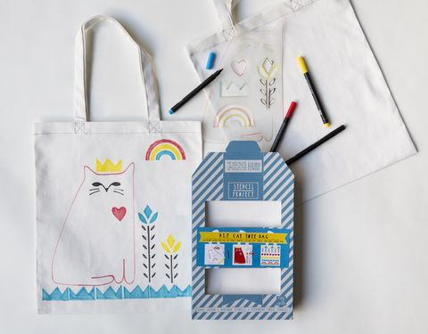 Cat,Love,Tote,Stencil,Kit,Stencil Kit, Tote, cat, cat love, DIY