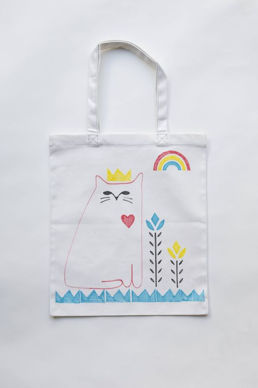 Cat Love Tote Stencil Kit - product images  of
