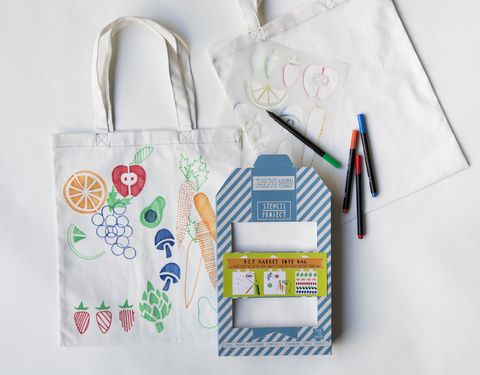 Market,Tote,Stencil,Kit,stencil kit, tote bag, market, farmer's market, vegetables, fruit