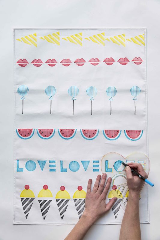 Sweet Tea Towel Stencil Kit - product images  of