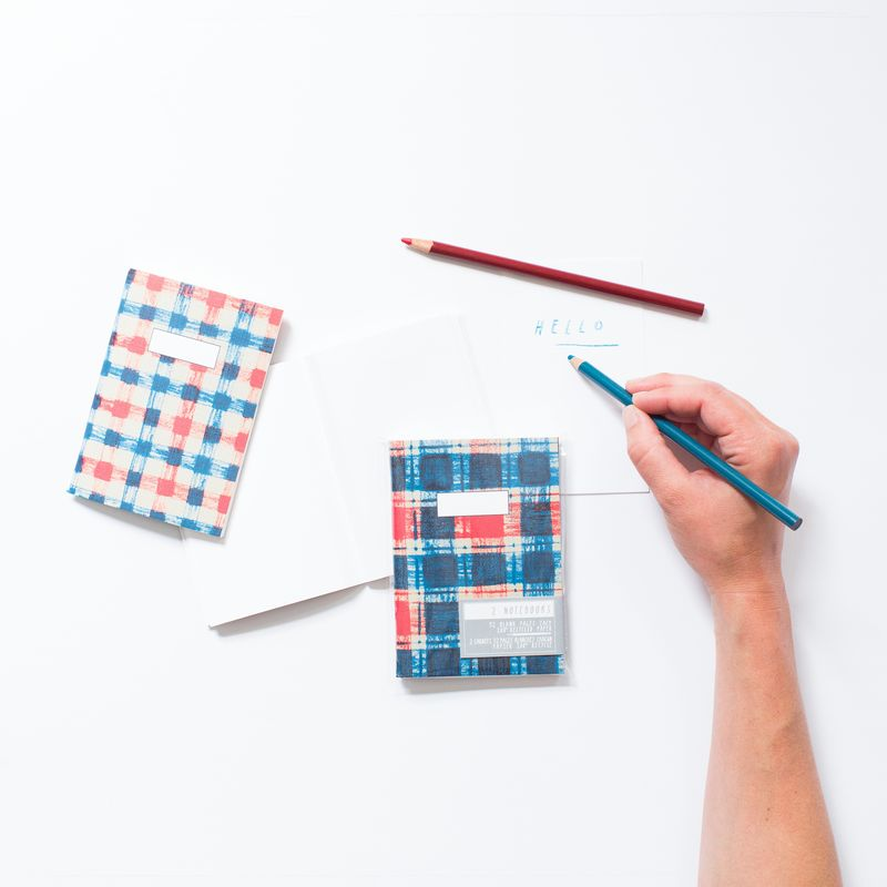 Plaid Notebooks - product images  of