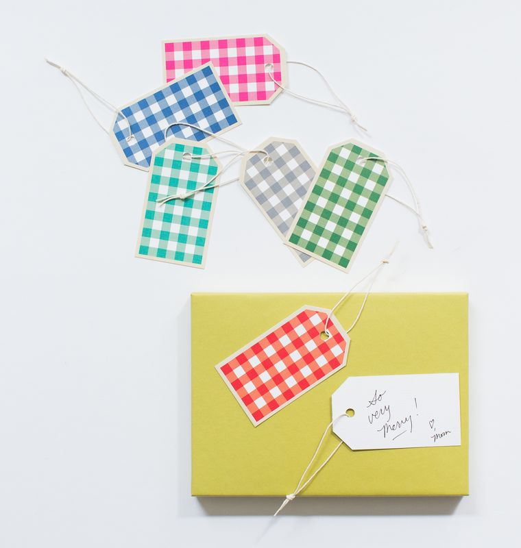 Gingham Gift Tag - product images  of