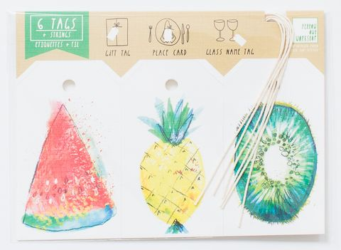 Fruits,Gift,Tag,gift tag, fruits, watermelon, pineapple, kiwi, strawberry, banana, papaya