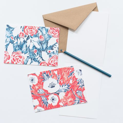Sketch,Floral,Rose,&,Poppy,card set, cards, floral, rose, poppy