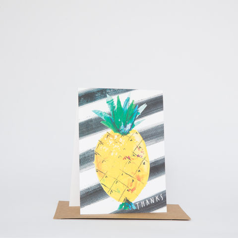 Sketch,Thank,You,Pineapple,card, thank you, pineapple, fruit