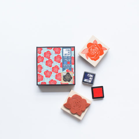Rose,Pattern,Stamp,Set,stamp, stamp kit, pattern, rose