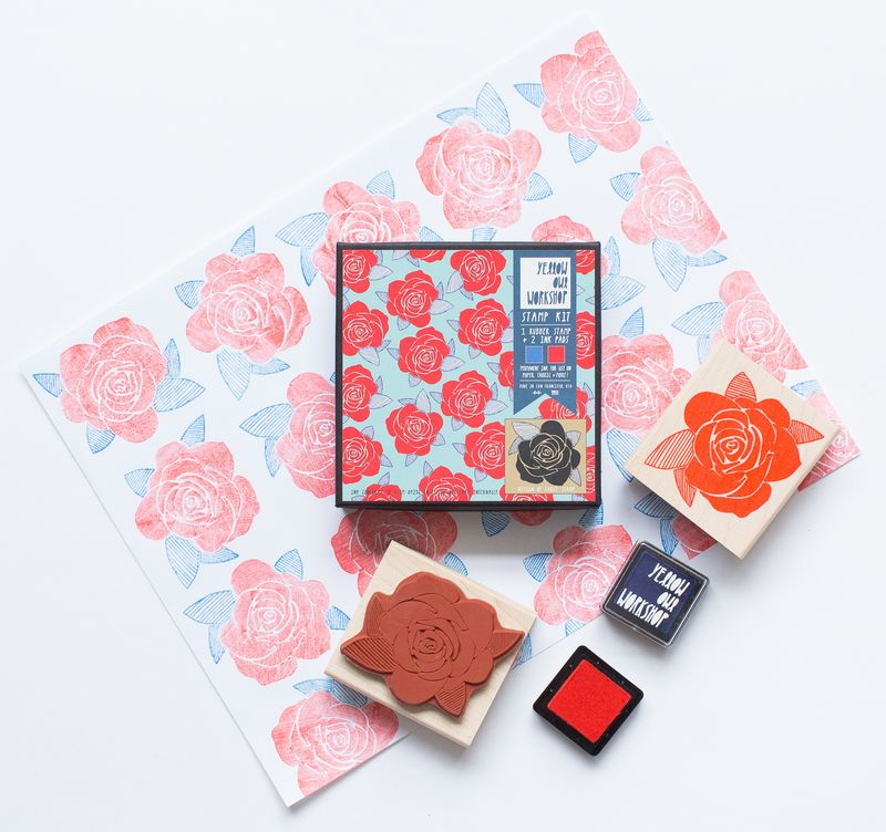 Rose Pattern Stamp Set - product images  of