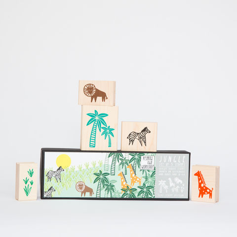 Jungle,Stamp,Set,jungle, stamps, palm tree, lion, zebra, giraffe, plants