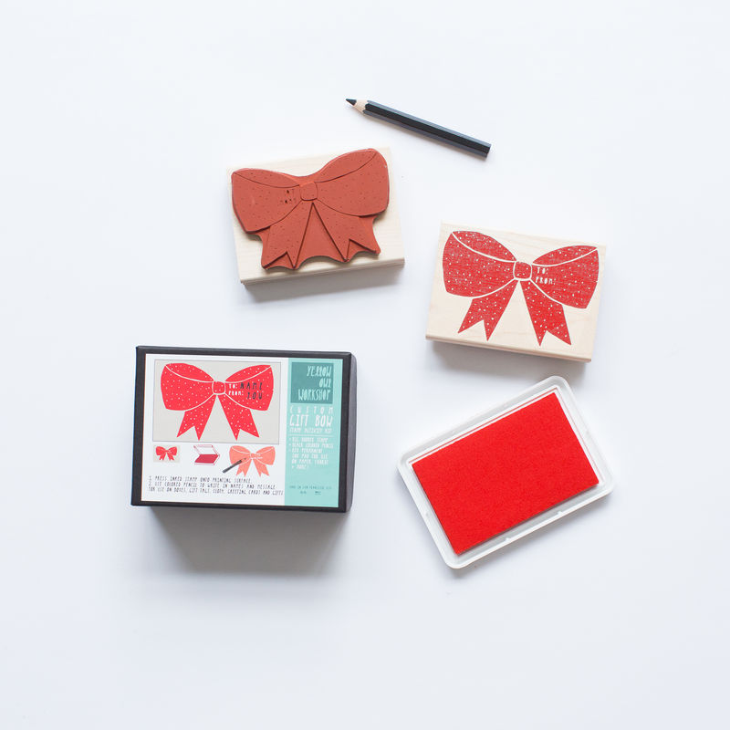 Custom Gift Bow Stamp Activity Kit - product images  of