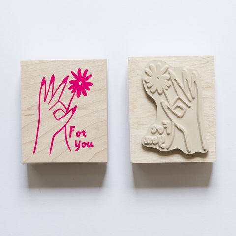 Hand,Flower,For,You,Stamp, for you, hand, flower, Yellow Owl Workshop, Christine Schmidt, Craft, DIY, Stamping, Rubber Stamp