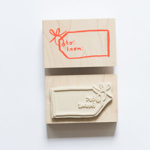 To,/,From,Gift,Tag,Stamp