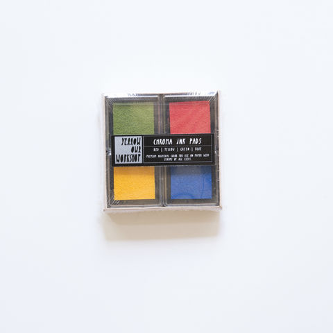 Chroma,Ink,Pad,Set,-,Red/Yellow/Green/Blue,ink pad, primary colors, ink pad set, chroma ink, Yellow Owl Workshop, Christine Schmidt, archival ink, red, yellow, green, blue, mini ink pad