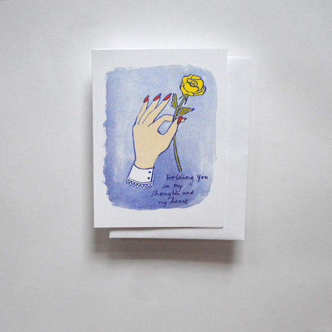 Risograph,Card,-,Holding,You,In,My,Thoughts,risograph, riso, greeting card, risograph card, yellow owl workshop, Christine Schmidt, simpathy card, holding you in my thoughts, rose card
