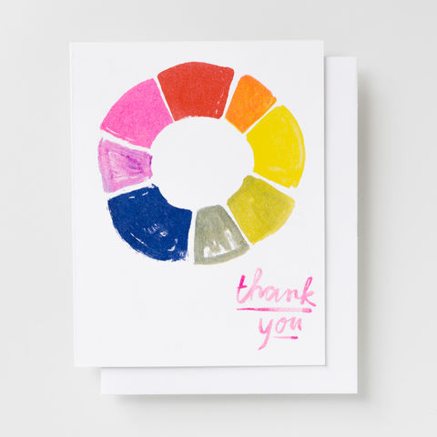 Thank,You,Color,Wheel,-,Risograph,Card,thank you, color wheel, thanks, thank you card, card, greeting card, risograph, riso