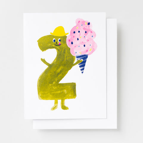Birthday,2,-,Risograph,Card,birthday, greeting card, card, risograph, birthday kids, 2