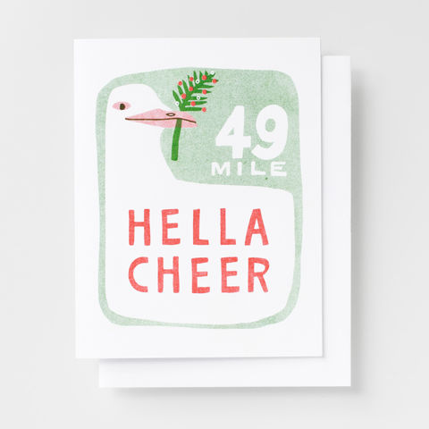 Hella,Cheer,-,Risograph,Card,holiday, greeting card, card, risograph, riso, bay area, San Francisco, SF, christmas