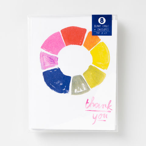 Thank,You,Color,Wheel,-,Risograph,Card,Set,thank you, cards, card set, greeting card, colorwheel, risograph, riso