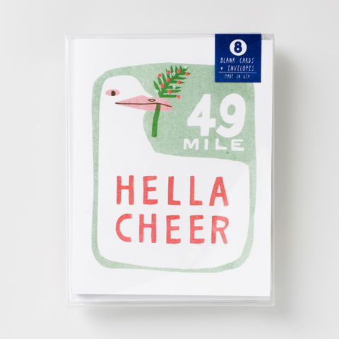 Hella,Cheer,-,Risograph,Card,Set,hella, bay area, holiday, greeting card, winter, card set, risograph, riso