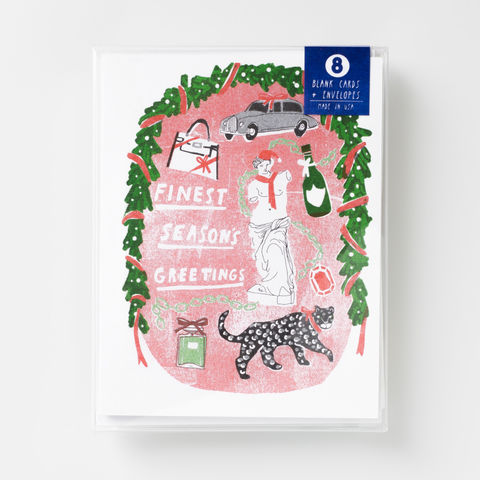 Finest,Season's,Greetings,-,Risograph,Card,greeting card, card, card set, holiday, christmas, risograph, riso