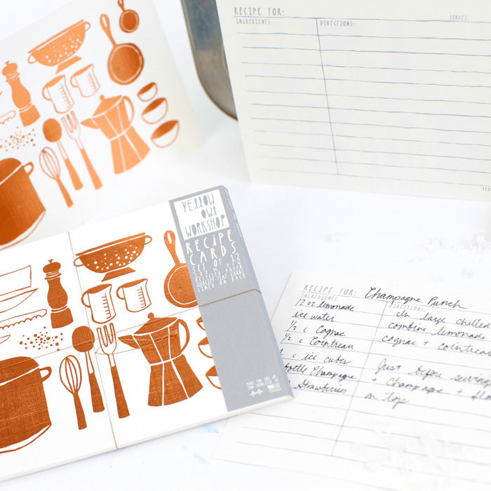 Copper Foil Recipe Cards - product images