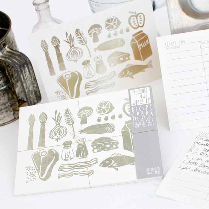 Silver Foil Recipe Cards - product images  of
