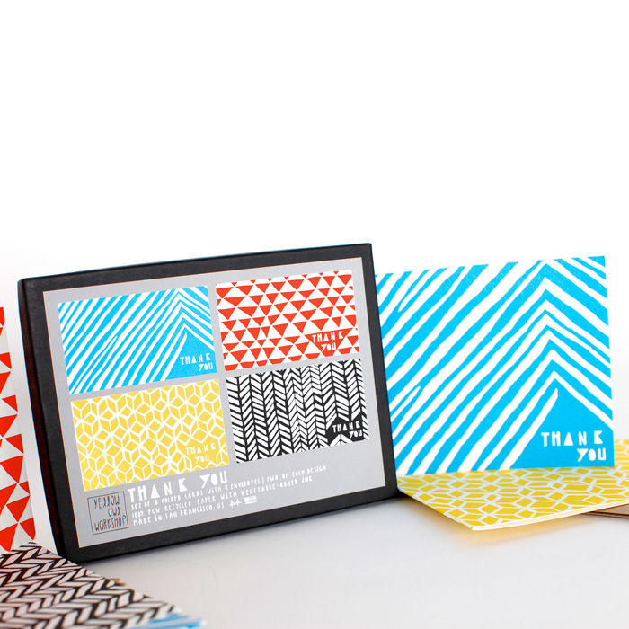 Geometric Thank You Card Set - product images  of