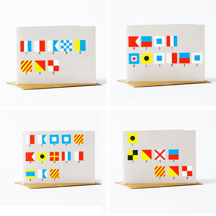 Nautical Flags Card Set - product images  of