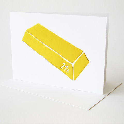 24K,Card,yellow owl workshop, christine schmidt, 24k card, gold bar card